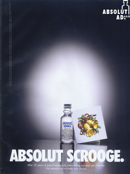 Small bottle of Absolut with a gift tag.