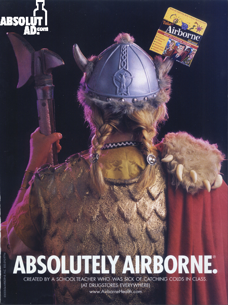 Ad for Airborne medication.