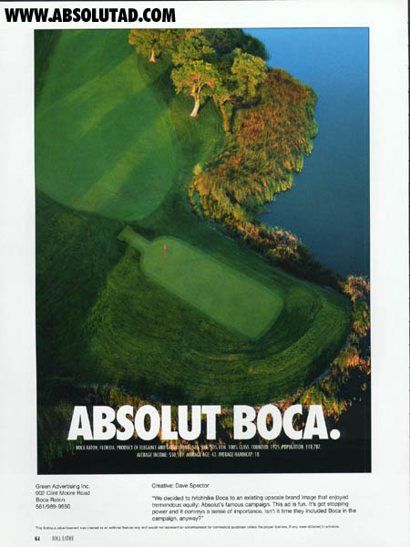 Aerial view of a golf course in Boca Raton, Florida.