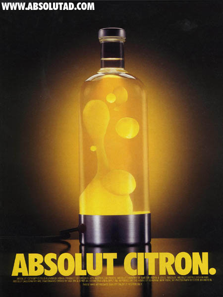 Lava Lamp made out of Absolut bottle.