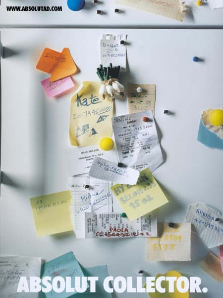 Notes on fridge in shape of bottle