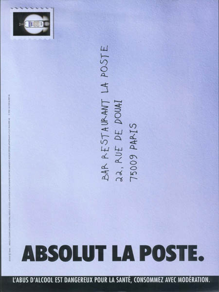 Envelope addressed to Bar Restaurant La Poste