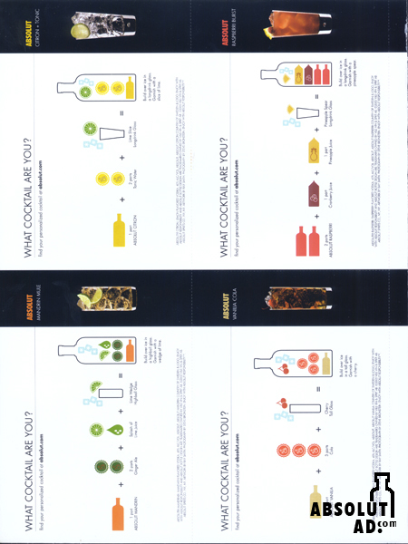 Drink recipe cards