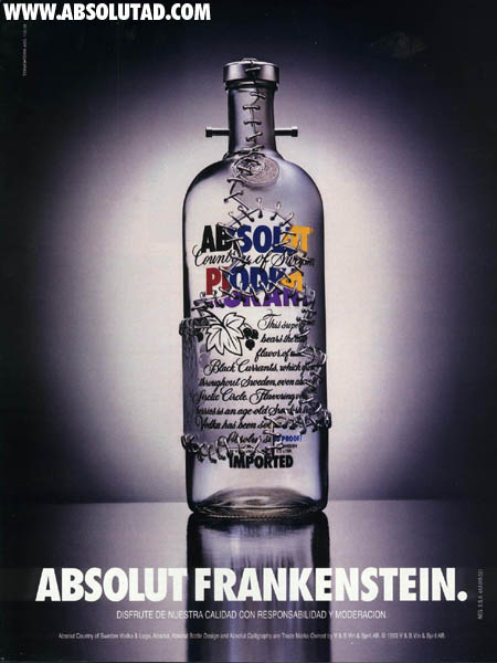 frankenstein Absolut Vodka