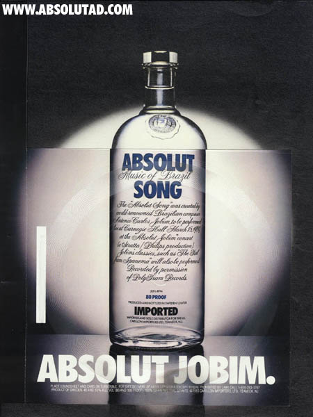 Absolut bottle with real record!