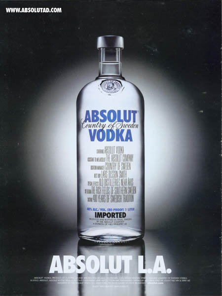 Movie Credits on front of bottle.