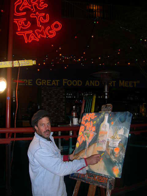 Ad description: I perform paintings at universal city walk, hollywood at cafe tu tu tango...