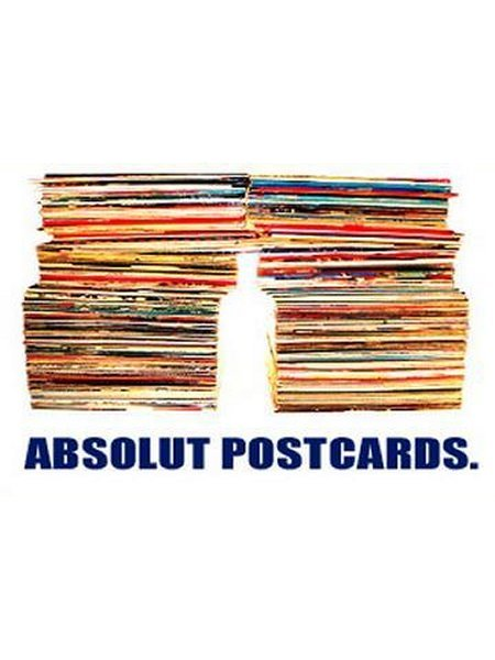 For the collector of Absolut Postcards.