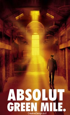 Green Mile movie poster. Ad by Creative Design.