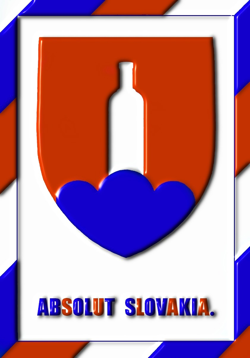 The variation on the Slovak national flag.