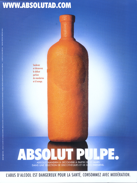 Orange covered bottle with peel and sniff