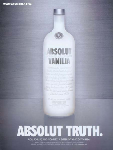 Absolut Vanilia bottle.
