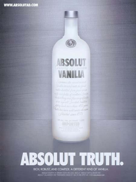 Absolut Vanilia bottle.