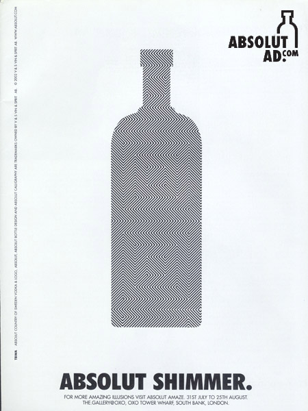 Ad for the Absolut Amaze exhibit