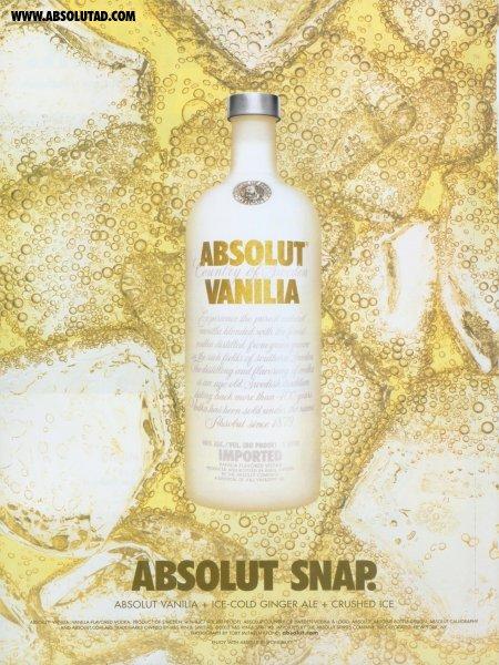 Vanilia bottle floating on ginger ale