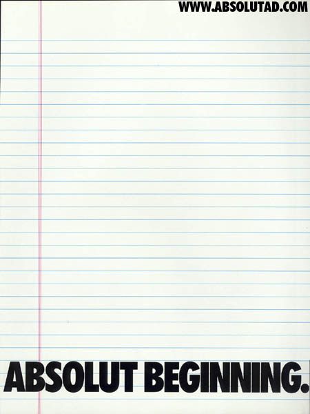 Sheet of blank college ruled paper.